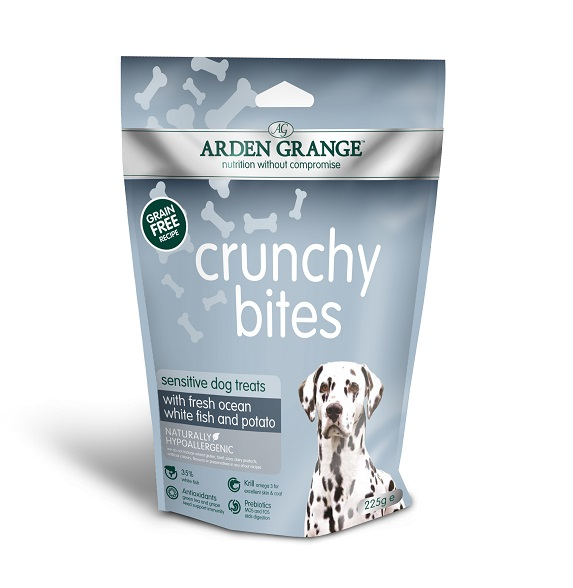 Arden Grange Crunchy Bites Sensitive Dog Treats 225g